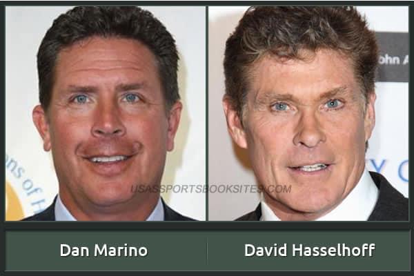 Dan Marino And His Alter Ego David Hasselhoff