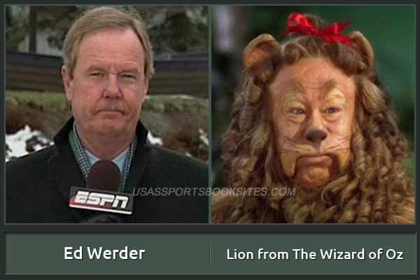 Ed Werder And His Alter Ego Lion From The Wizard Of Oz