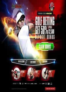 Betonline Sportsbook Golf Page