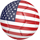 USA Soccer Ball With Stars And Stripes