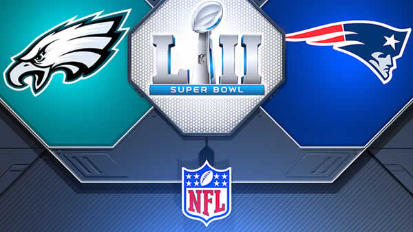 Super Bowl 52 Eagles VS Patriots