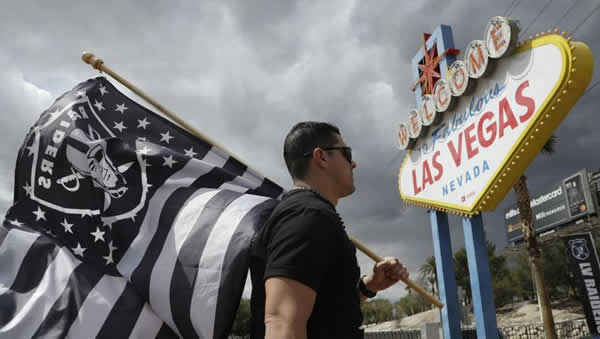 Raiders flag in Las Vegas