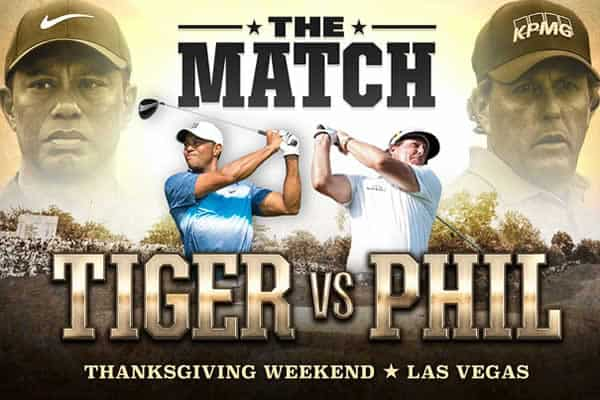 Tiger Woods vs Phil Mickelson showdown at thanksgiving