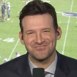 Commentator Tony Romo