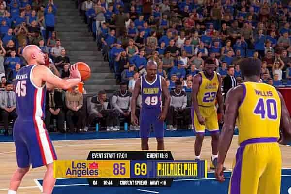 Virtual Basketball Player Shooting A Free Throw