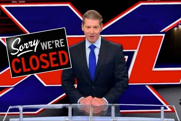 XFL Owner WIth Closed Sign Posted In Front