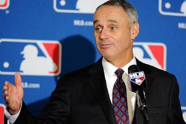 MLB Commissioner Manfred at a press conference