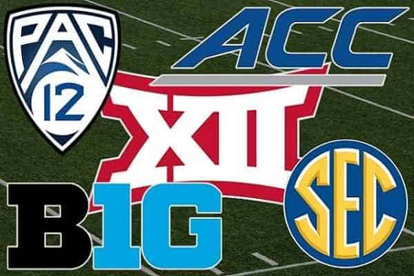 Power 5 NCAAF Conference Logos