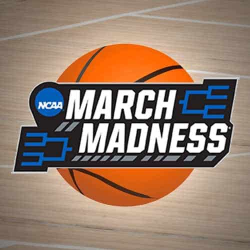 March Madness ball and court